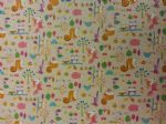 NEW! WOODLAND FAMILY PINK - Fabric 80% Cotton 20% LINEN - Price Per Metre